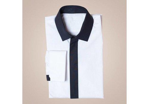 PAISLEY Hemd aus Baumwolle | Cremeweiß-schwarz