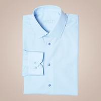Hemd mit Kent-Kragen und Sportmanschette aus 100% Baumwolle in hellblau | Passform: Slim Fit