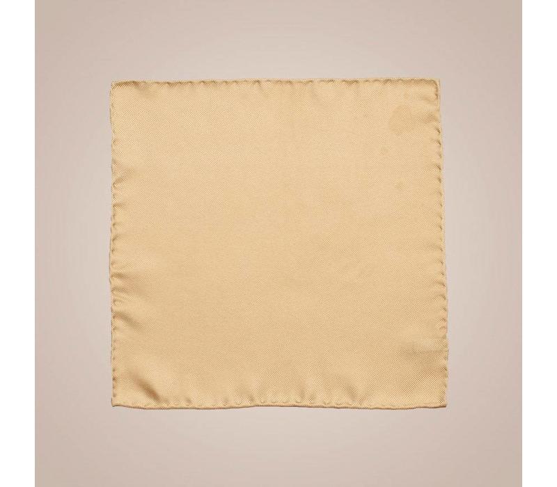Einstecktuch handrolliert aus Seide - Goldgelb