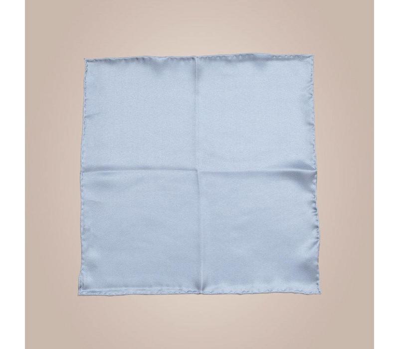 Handrolliertes Einstecktuch aus Seide - Blau