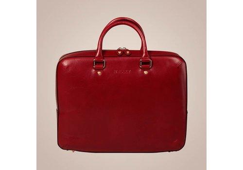 PAISLEY Henkeltasche aus Leder | Rot
