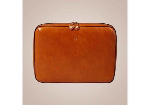 PAISLEY Laptoptasche aus Leder | Cognac
