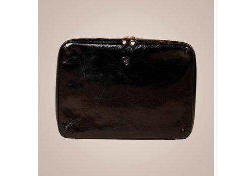 PAISLEY Laptoptasche aus Leder | Schwarz