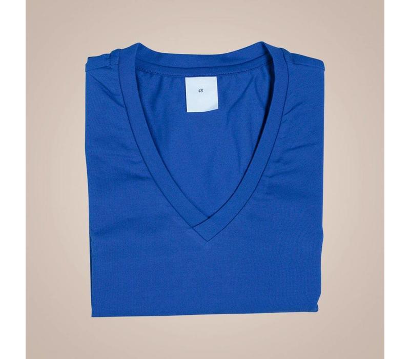 Hochwertiges Unterhemd-Shirt aus elastischer Baumwolle | V-Ausschnitt