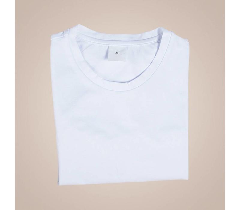 Unterhemd-Shirt aus elastischer Baumwolle | Rundhals