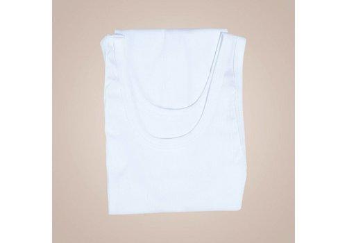 PAISLEY Geripptes Unterhemd | Weiß