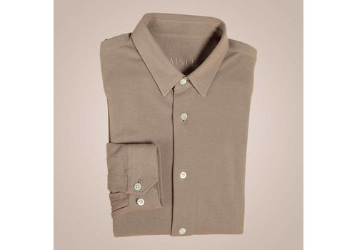 PAISLEY Hemd in Polo-Optik | Langarm