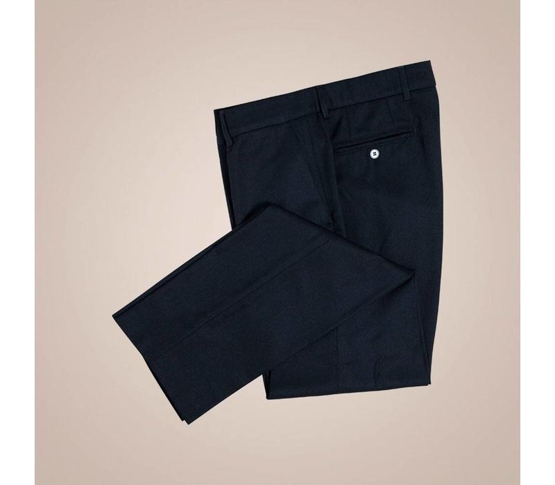 Chino in schwarz aus 100% Wollflanell | Slim Fit