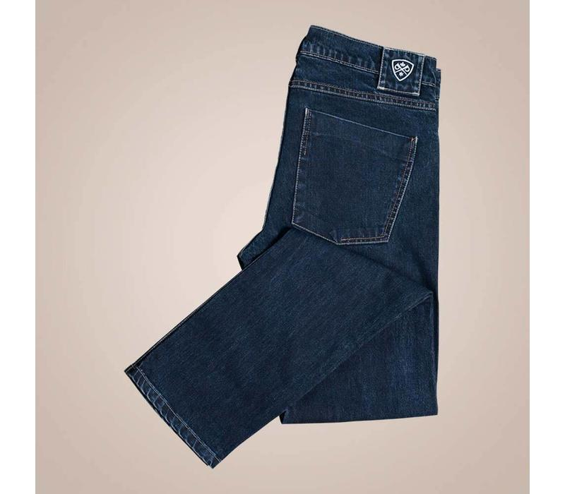 Jeans in dunkelblau mit Stretchanteil | Slim Fit