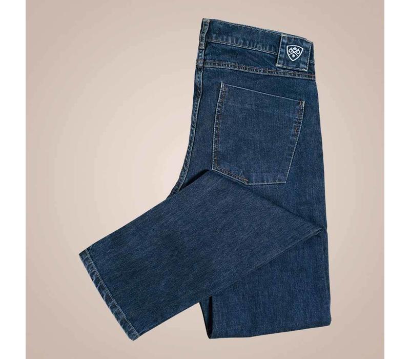 Jeans in grau-blau aus Baumwolle | Slim Fit