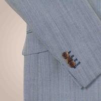 Anzug in hellblau-creme aus 100% Wolle | Slim Fit
