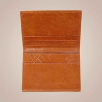 Store - Kartenetui aus gewachstem Kalbsleder | Camel