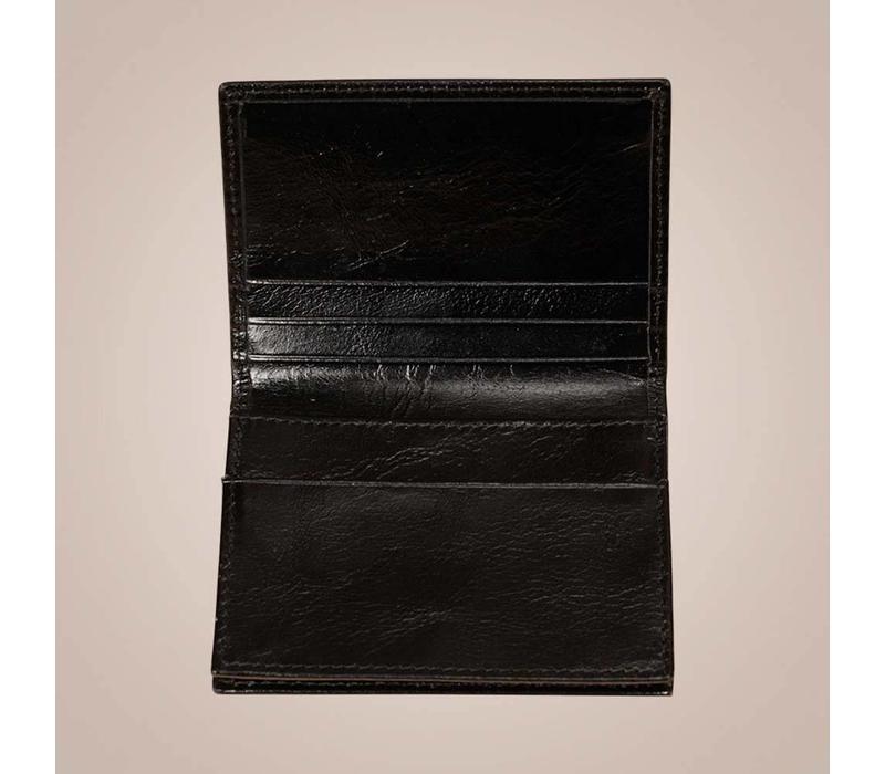 Store - Kartenetui aus gewachstem Kalbsleder | Schwarz