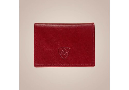 PAISLEY Kartenetui aus Leder | Rot