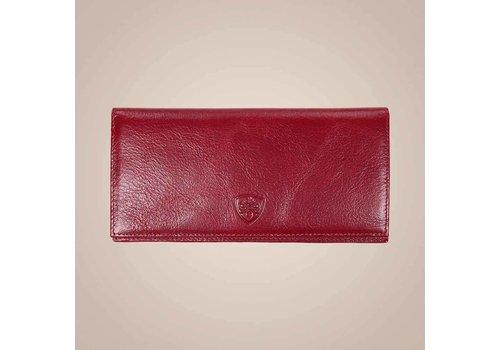 PAISLEY Portemonaie aus Leder | Rot