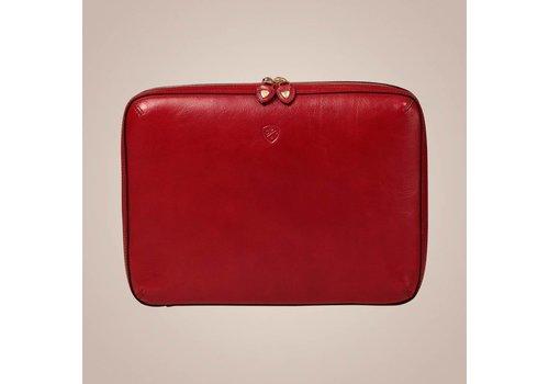 PAISLEY Laptoptasche aus Leder | Rot