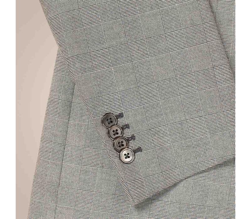 Sakko aus 100% Baumwolle mit Glenncheck-Muster | Zweireiher