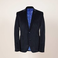Anzug aus nachtblauem Genua-Cord | Passform: Slim Fit