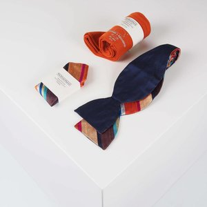 THEACCESSORYBOX by Gentleman's Agreement Accessoire-Set - Einstecktuch, Fliege, Socke - Dunkelblau/Orange