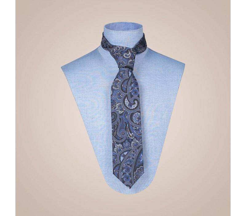 Krawatte handgefertigt aus Jacquard-Seide - Breite: 8cm