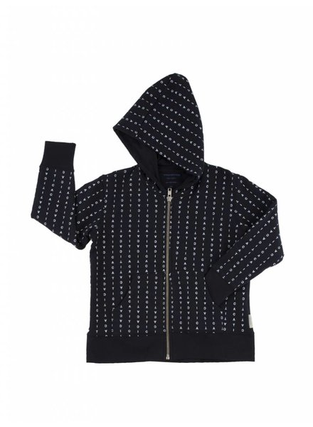 Hoody - alphabet soup - navy/light blue