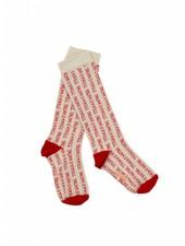 knee socks - titicaca - beige/red