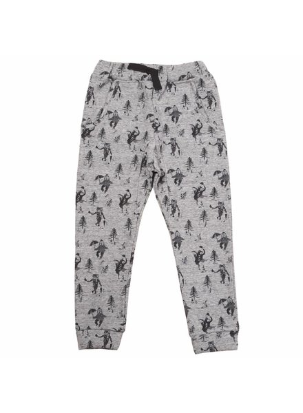OUTLET // trousers - gris chiné animeaux