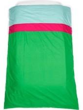 OUTLET // dekbedovertrek groen/framboos (140 x 200cm)