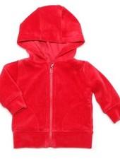 hoodie velours - rood
