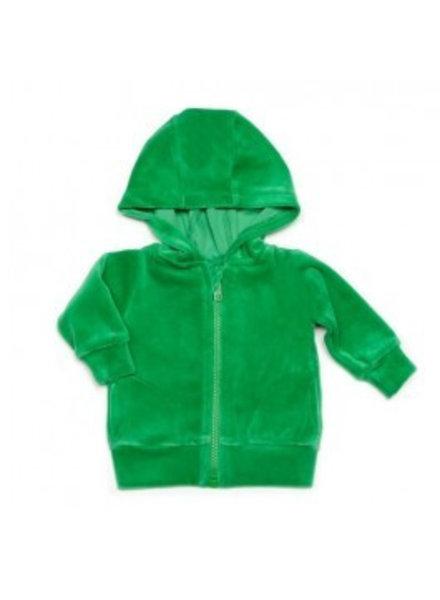hoodie velours - groen