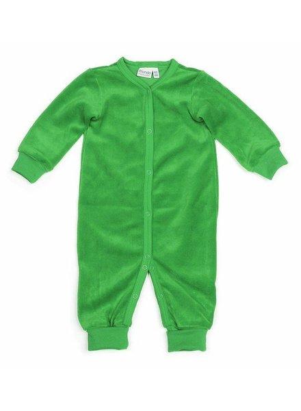 OUTLET // jumpsuit velours - groen