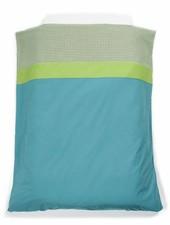 OUTLET // dekbedovertrek aqua/groen (100 x 140cm)