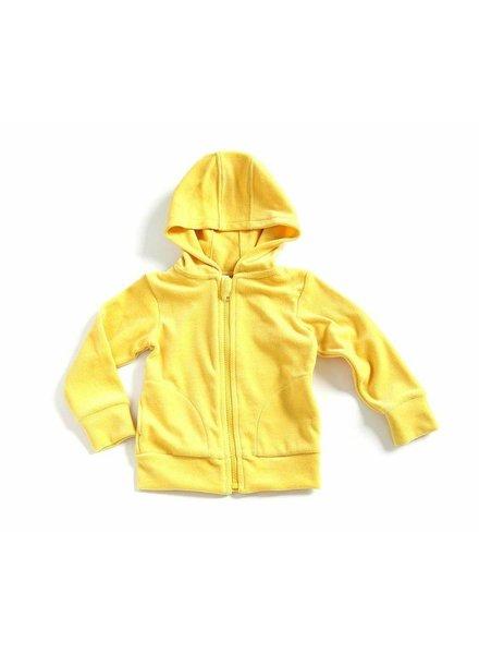 hoodie velours - geel