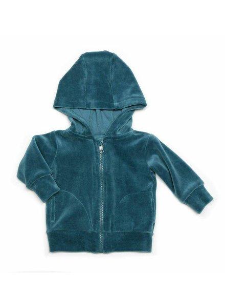 hoodie velours - aqua