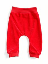 baggypants velours - rood