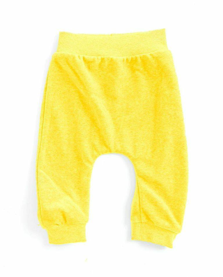 baggypants velours - geel