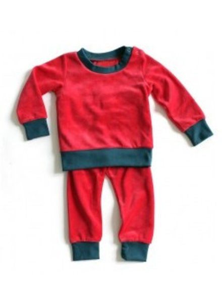 OUTLET // pyjama velours - rood