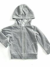 hoodie velours - melee grijs