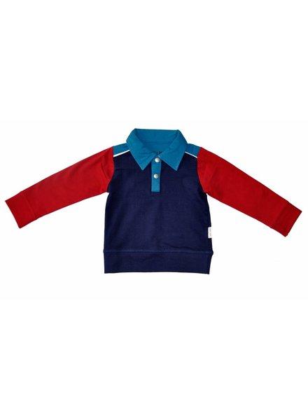 OUTLET // shirt d.blue/red