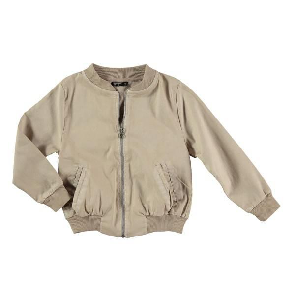 bomber jacket - gold