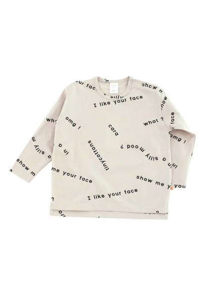 OUTLET // oversized t-shirt - many words