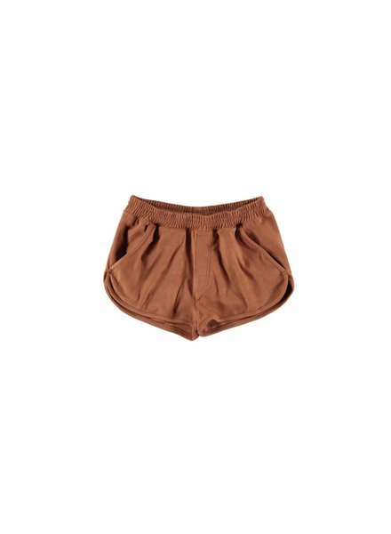 OUTLET // short suede brown