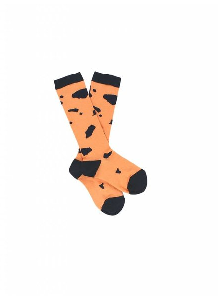 OUTLET // high socks - cut outs peach/navy