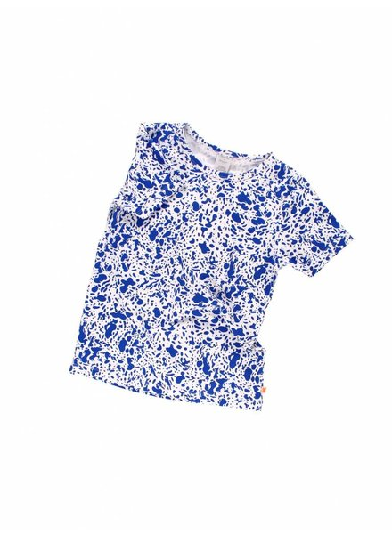 OUTLET // t-shirt enamel - off-white / blue