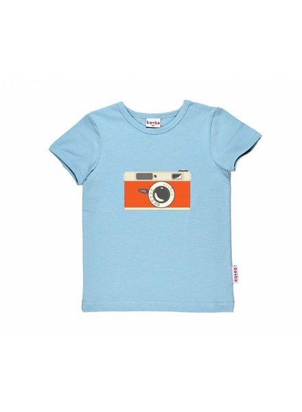 OUTLET // t-shirt - camera light blue