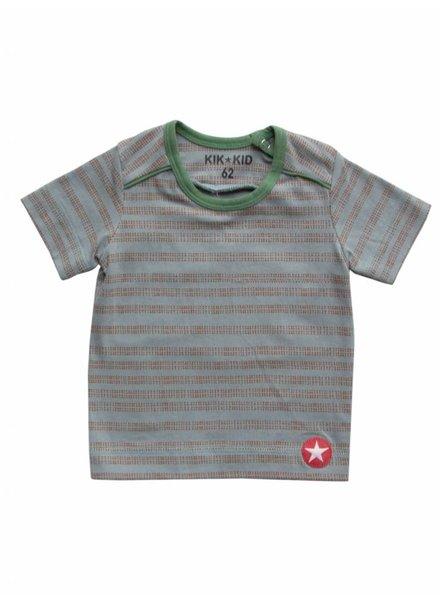 OUTLET // t-shirt stripes/dots - l.blue/brown