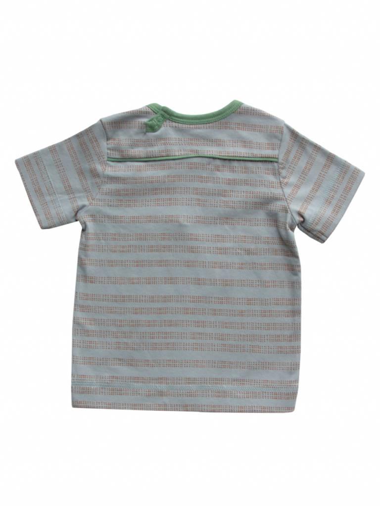 t-shirt stripes/dots - l.blue/brown