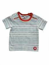 OUTLET // t-shirt stripes/dots - white/blue