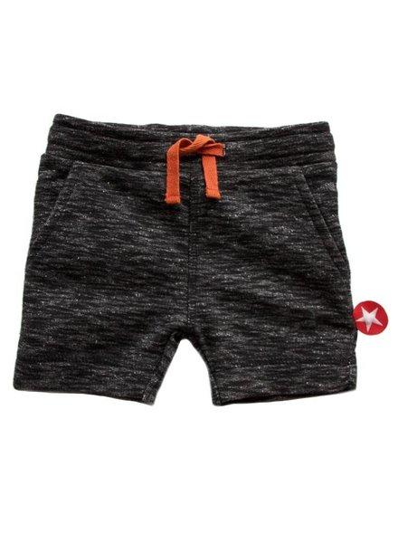 OUTLET // short french knit - melee black