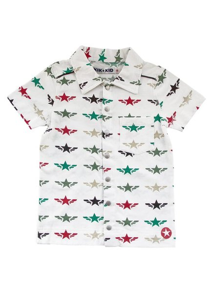 OUTLET // shirt star wings - white